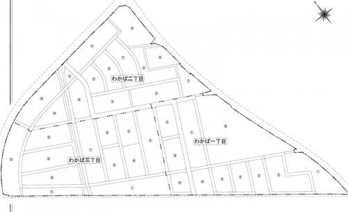 宮城県石巻市2014年2月22日区画整理事業住所変更区域図他4