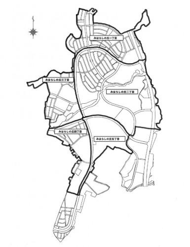 山形県山形市2014年2月15日区画整理事業住所変更区域図他1