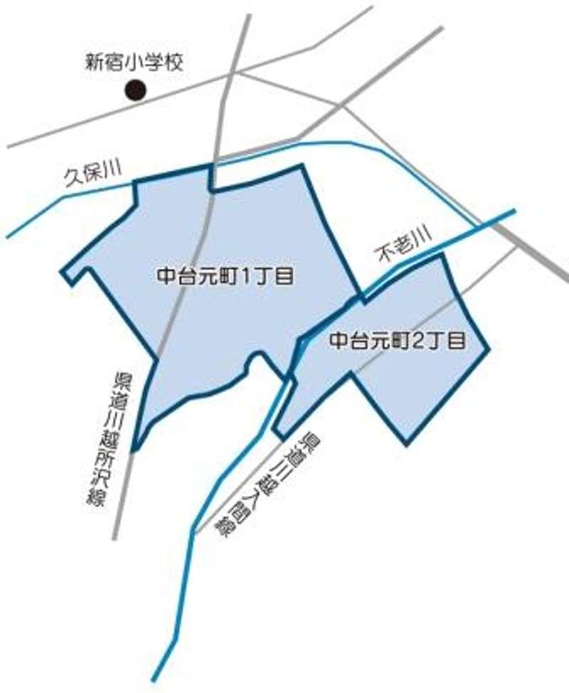 埼玉県川越市2014年3月3日町名地番変更住所変更区域図他1