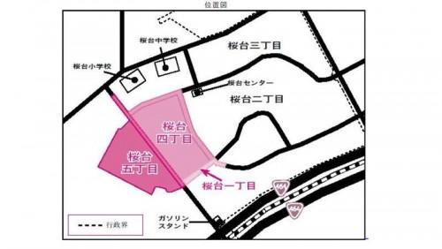千葉県白井市2014年1月16日住居表示住所変更区域図