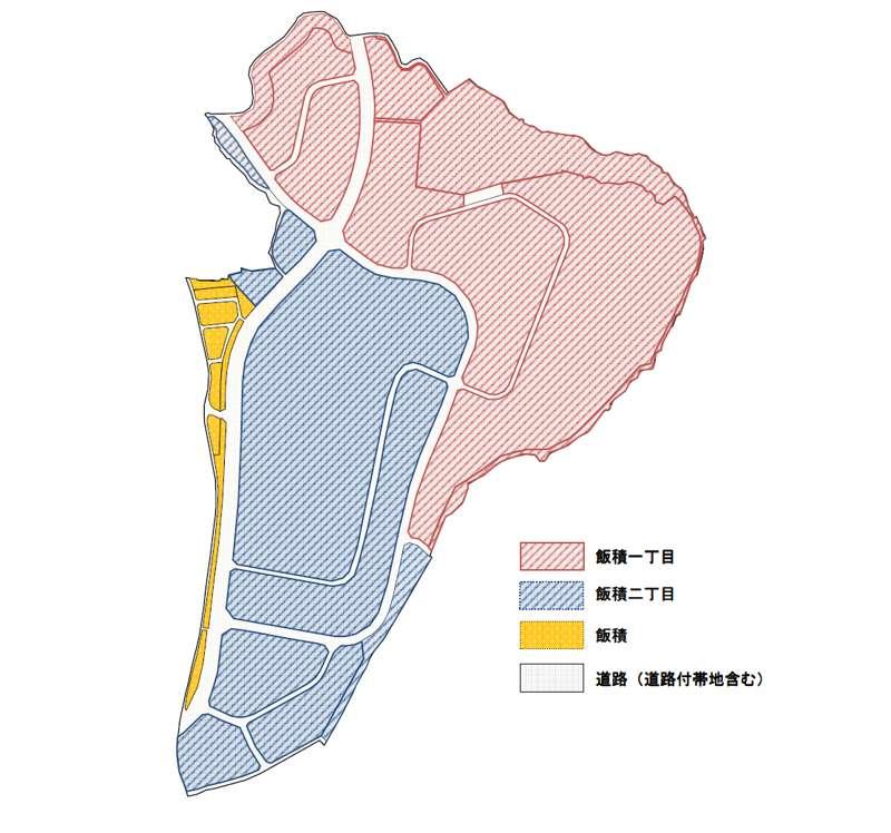 千葉県印旛郡酒々井町2014年3月15日区画整理事業住所変更区域図他1
