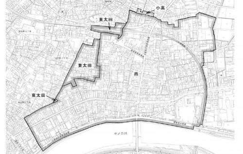 新潟県燕市2014年3月3日住居表示住所変更区域図他1