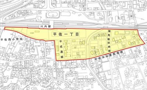 鹿児島県薩摩川内市2014年3月1日区画整理事業住所変更区域図他2