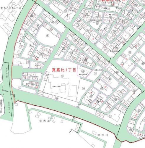 沖縄県那覇市2014年3月1日住居表示住所変更区域図他2