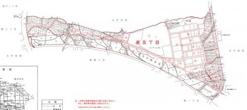 東京都国立市2014年6月21日町名地番変更住所変更区域街区図