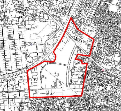 宮城県石巻市2014年5月10日区画整理事業住所変更区域図他1