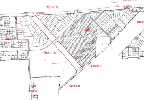 石川県金沢市2014年6月28日区画整理事業住所変更区域図他2