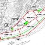 岐阜県各務原市2014年6月21日区画整理事業住所変更区域図他1