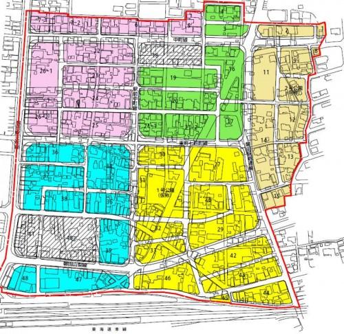 静岡県磐田市2014年6月28日区画整理事業住所変更区域図他2