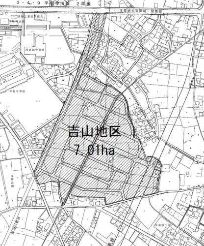 愛知県西尾市2014年6月28日区画整理事業住所変更区域図他1