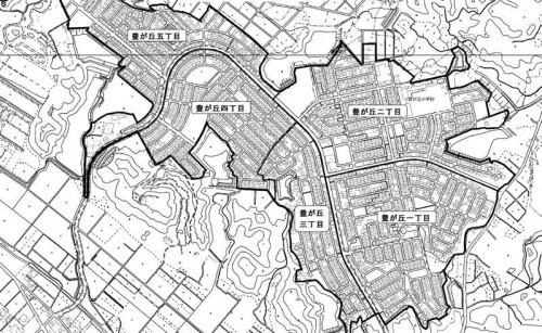 三重県津市2014年6月30日住居表示住所変更区域図他1
