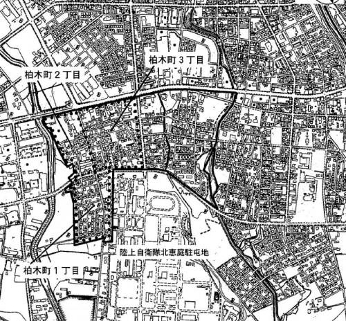 北海道恵庭市2014年9月14日住居表示住所変更区域図他1