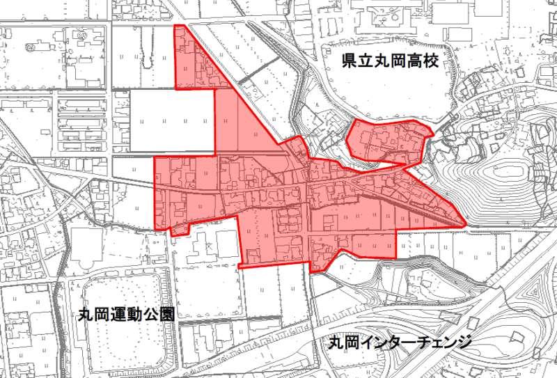 福井県坂井市2014年8月1日地籍調査による地番整理住所変更区域図他1