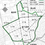 愛知県春日井市2014年8月16日区画整理事業住所変更区域図他1