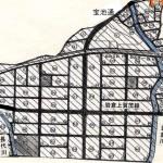 京都府京都市左京区2014年8月23日区画整理事業住所変更区域図他1
