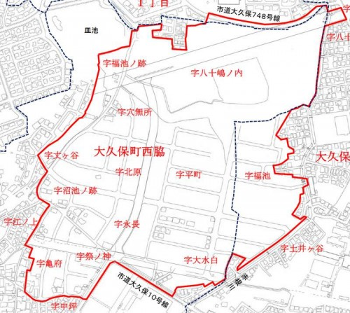 兵庫県明石市2014年9月27日住居表示住所変更区域図他1