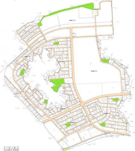 千葉県木更津市2014年11月15日区画整理事業住所変更区域図他1