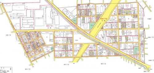 神奈川県川崎市高津区2014年10月20日住居表示住所変更区域図他1