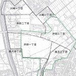 新潟県長岡市2014年11月1日区画整理事業住所変更区域図他1