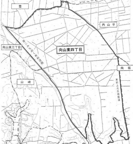 青森県上北郡おいらせ町2014年12月1日字の区域及び名称変更住所変更区域図他2