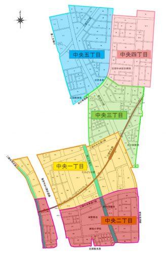 埼玉県三郷市2015年1月31日区画整理事業住所変更区域図他1