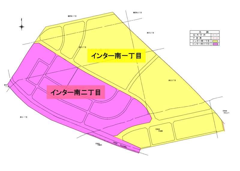 埼玉県三郷市2015年2月7日区画整理事業住所変更区域図他1