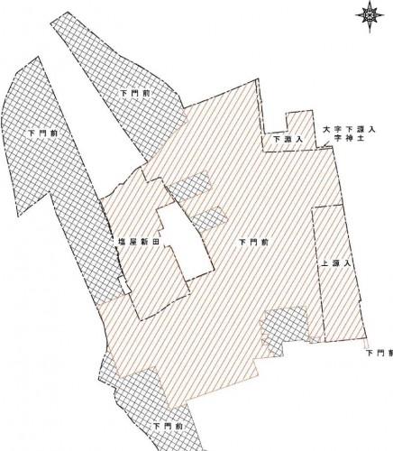 新潟県上越市2016年11月1日区画整理事業住所変更区域図他1