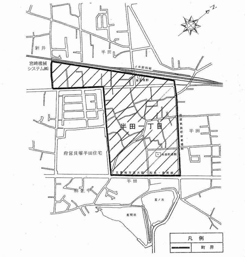 大阪府貝塚市2014年11月10日住居表示住所変更区域図他1