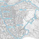 山梨県富士吉田市2014年12月22日住居表示住所変更区域図他1