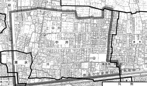 岡山県岡山市中区2015年1月31日住居表示住所変更区域図他1