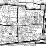 岡山県岡山市中区2015年1月31日住居表示住所変更区域図他2