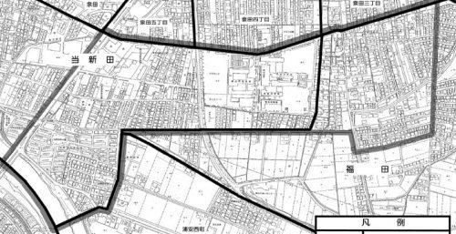 岡山県岡山市南区2015年1月31日住居表示住所変更区域図他1