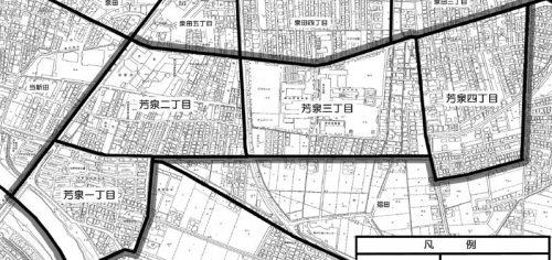 岡山県岡山市南区2015年1月31日住居表示住所変更区域図他2