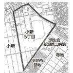 新潟県新潟市西区2015年1月19日住居表示住所変更区域図他1