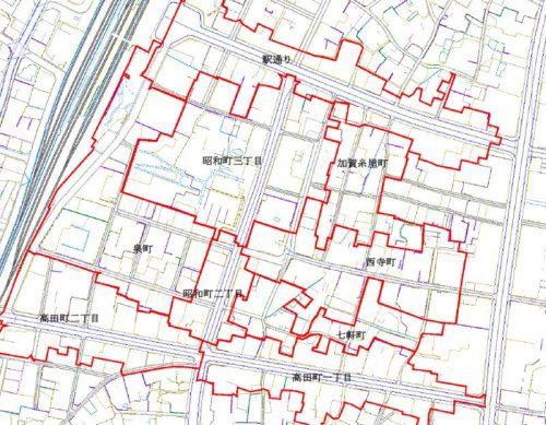 新潟県十日町市2014年11月17日地籍調査による地番整理住所変更区域図他1