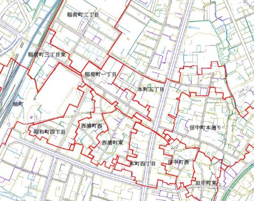 新潟県十日町市2014年11月17日地籍調査による地番整理住所変更区域図他2
