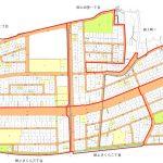 石川県金沢市2015年1月17日区画整理事業住所変更区域図他1