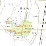 神奈川県足柄上郡開成町2015年5月2日区画整理事業住所変更区域図他1