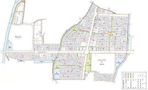 神奈川県足柄上郡開成町2015年5月2日区画整理事業住所変更区域図他3
