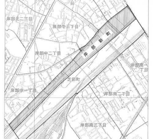 大阪府吹田市2015年7月1日住居表示住所変更区域図他1