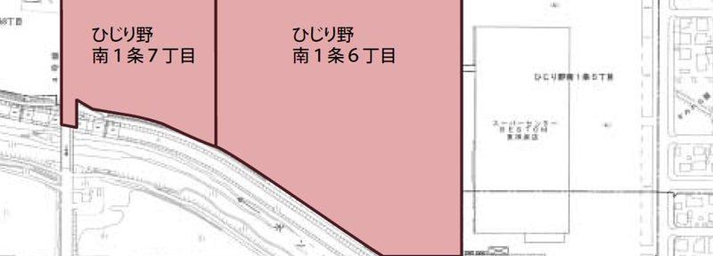 北海道上川郡東神楽町2015年2月15日住居表示住所変更区域図他1