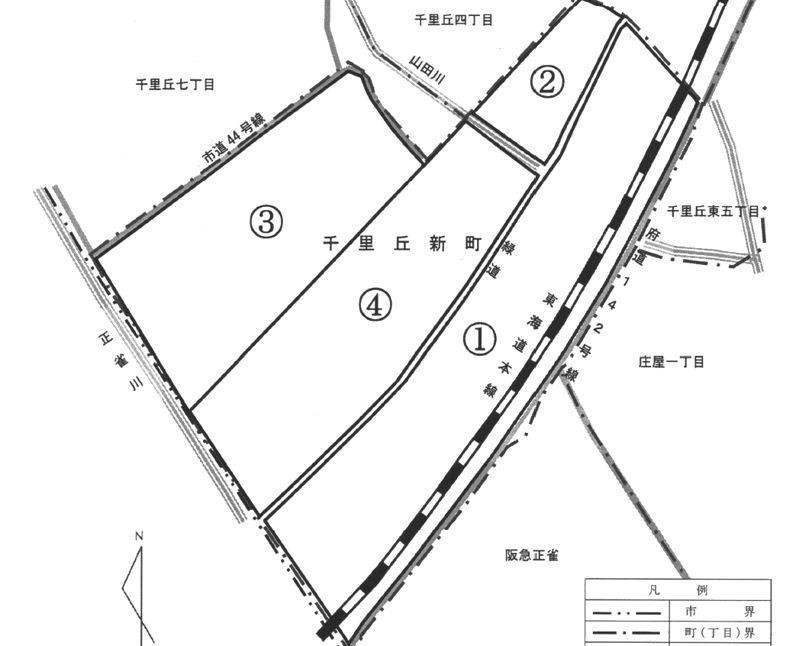 大阪府摂津市2015年4月1日住居表示住所変更区域図他1