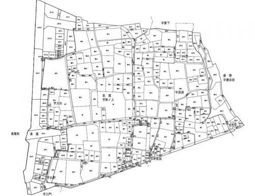 静岡県袋井市2015年6月6日区画整理事業住所変更区域図他1