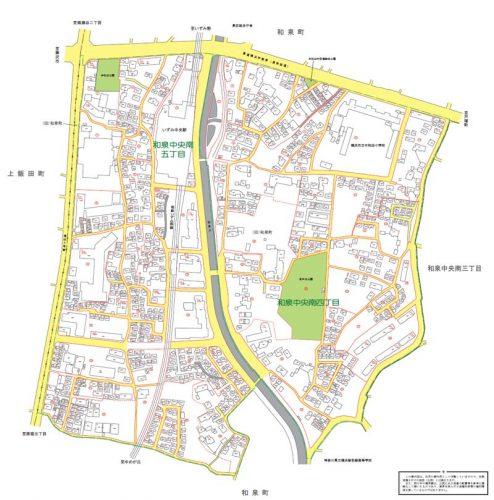 神奈川県横浜市泉区2015年9月7日住居表示住所変更区域図他1