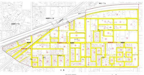 新潟県新潟市中央区2015年7月27日住居表示住所変更区域図他1