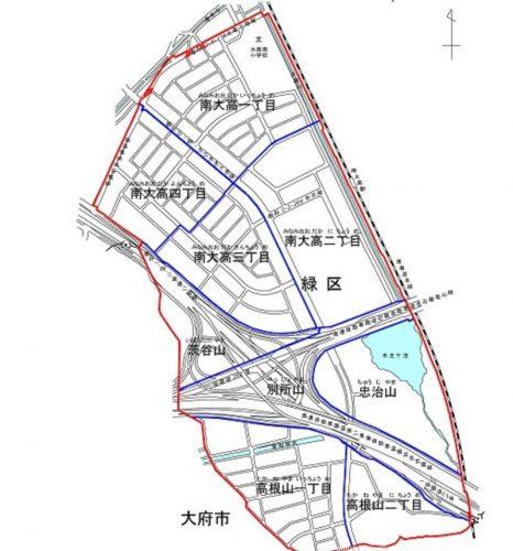 愛知県名古屋市緑区2015年9月12日町の区域及び名称変更住所変更区域図他1