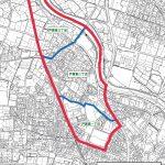 福岡県糟屋郡粕屋町2015年9月5日住居表示住所変更区域図他1