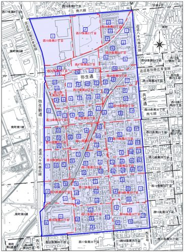 北海道帯広市2015年10月5日字の区域及び名称変更住所変更区域図他1