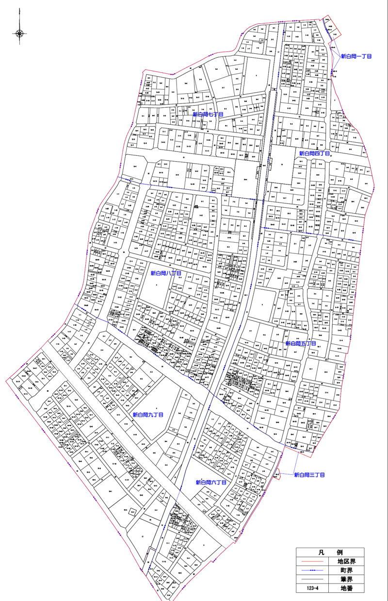 埼玉県白岡市2015年10月17日区画整理事業住所変更区域図他1