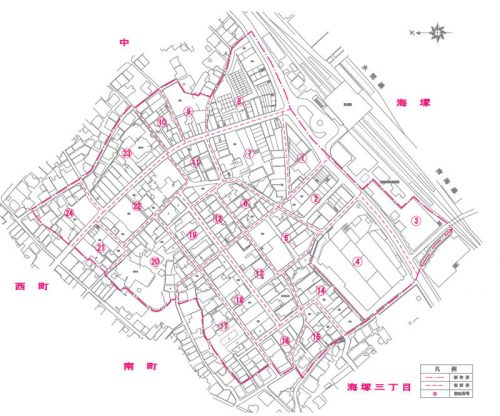 大阪府貝塚市2015年11月30日住居表示住所変更区域図他1